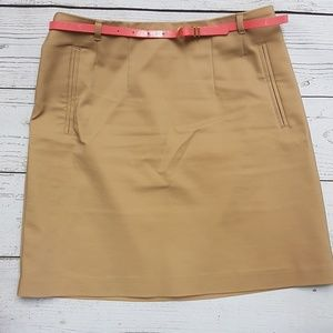 Skirt with a belt. There's no actual pockets